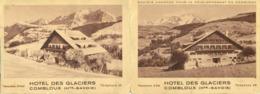HAUTE-SAVOIE - Combloux - Publicité Pour L'hôtel Des Glaciers - Etiquettes D'hotels