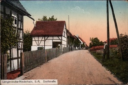! 1917 Ansichtskarte Langenleuba-Niederhain, Dorfstraße, Thüringen - Other