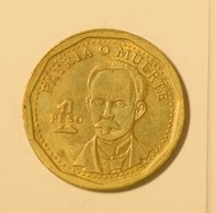Cuba 2016 KM#347 Jose Marti 1 Peso Regular VF - Cuba