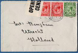 Great Britain - British Censor Label (small White) On Croydon To Utrecht Cover 1914 Sept - 2003.0717 - Storia Postale
