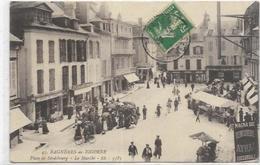 65.BAGNERES DE BIGORRE.  PLACE DE STRADSBOURG. LE MARCHE - Bagneres De Bigorre