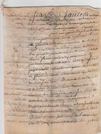 MANUSCRIT DU 18 EME-SUR PEAU--CACHET DE BOURGES--VOIR SCANNER ET DESCRIPTIF. - Manuscripten
