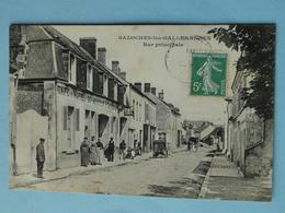 """BAZOCHES Les GALLERANDES -- """" Café Hôtel Du Mouton """" P. Guérin Prop. - TRES ANIMEE - Cpa PEU COURANTE !! - Francia"""