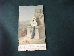 SANTINO HOLY PICTURE IMAIGE SAINTE  LA SAINTE FAMILLE AU DESERT 5423 - Religión & Esoterismo