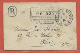 SAINT PIERRE ET MIQUELON LETTRE RECOMMANDEE PP DE 1926 POUR PARIS FRANCE - St.Pierre & Miquelon