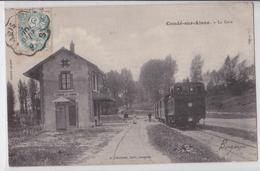 02 Condé-sur-Aisne - La Gare CBR - Train - Editeur Laguerre Soissons - Francia