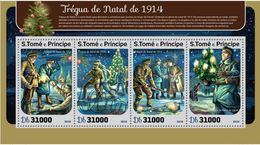 Saint Thomas 2016 WWI Noel 1914 MNH - WW1