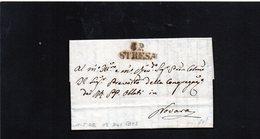 CG19 - Lett. Da Stresa X Novara 11/5/1842 - Bollo Stampatello Nero Con P.P. - 1. ...-1850 Prefilatelia