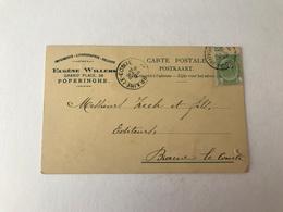 Poperinghe  Poperinge Imprimerie - Lithographie - Reliure Eugène Willems Grand' Place 28  1907 - Poperinge