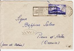 Trieste A, Busta Affrancata Con Sassone 111 (05391) - 7. Trieste