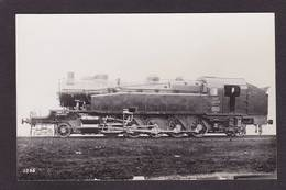 CPA Train Locomotive Gros Plan Carte Photo RPPC à Identifier Non Circulé Voir Scan Du Dos Angleterre Royaume Uni - Treni