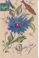1er Avril Devinez Moi..  (carte Celluloid Avec Collages) - 1 De April (pescado De Abril)