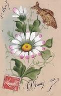 1er Avril Devinez Moi..  (carte Celluloid Avec Collages) - 1er Avril - Poisson D'avril