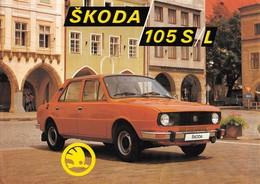 """08983 """"ŠKODA 105 S/L"""" VOLANTINO ORIGINALE - Automobili"""