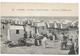 Oostende     La Plage  à L' Heure Des Bains - Oostende