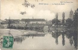DOLE . LES BORDS DU DOUBS . AFFR SUR RECTO LE 20-12-1914 - Dole