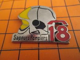 620 Pin's Pins / Beau Et Rare / THEME : POMPIERS / SAPEURS-POMPIERS CASQUE F1 TELEPHONE LE 18 Par BALLARD - Other