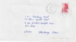 Env Affr Y&T 2376 Obl STRASBOURG BOURSE Du 29.2.1988 Adressée à Strasbourg - Marcophilie (Lettres)