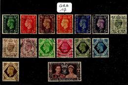 GRA YT 209 à 261 ( Sauf 221A/234/238/240/245/249/259 ) + 209A à 214A En Obl - 1902-1951 (Re)