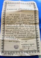 DOCUMENT ECRIT EN ARMÉNIEN DE 1911 AVEC CACHET ET PAPIER OFFICIEL ORIGINAL A TRADUIRE Arménie Arménia - - Documents Historiques