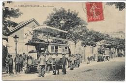 CPA PARIS18 ème Arrondissement PARIS MONTMARTRE La Station Des Omnibus Rue Ordener - Transport Urbain En Surface