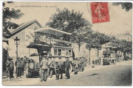 CPA PARIS18 ème Arrondissement PARIS MONTMARTRE La Station Des Omnibus Rue Ordener - Nahverkehr, Oberirdisch