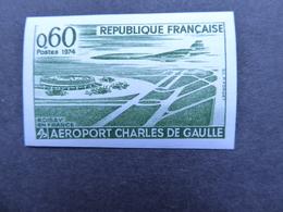 FRANCE Aéroport DE GAULLE Et Concorde ESSAIS DE COULEUR  Gomme D'origine Neufs Sans Charnière - Prove