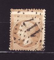 NAPOLEON III N 21 Piquage A Cheval GC 117 AF 305 - 1862 Napoléon III