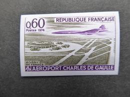 FRANCE Aéroport DE GAULLE Avec Concorde NON DENTELE  Gomme D'origine Neufs Sans Charnière - Francia