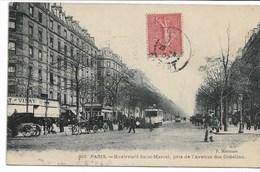 CPA PARIS 13 ème Arrondissement  Boulevard Saint-Marcel Pris De L'Avenue Des Gobelins (tramway ) - Arrondissement: 13
