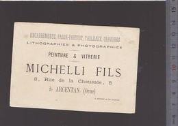 Chromo Fin XIXè / Pub Lithographies & Photographies Michelli, Argentan / Mandoline - Cromos