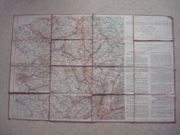 Carte Entoilée Front Nord - Est En 1914 - Plan Défense Et Situation. - 1914-18