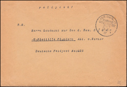 DEUTSCHE MARINE-SCHIFFSPOST No 7 - 25.5.1917 SMS Bayern Als Feldpost An FP 825 - Briefmarken