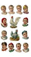 Lot De Chromos Découpis, Enfants, Poules - Enfants
