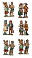 Lot De Chromos Découpis, Enfants, Hauteur Env. 6 Cm - Enfants