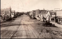 ! Alte Ansichtskarte, Old Photocard, Foto, Lake Benton, Main Street Minnesota USA, Cars, Ford Modell T, Gasoline Station - United States