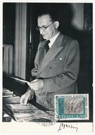 ITALIE - Carte Maximum - XXeme Anniversaire Communauté Européenne Charbon Acier - Alcide De Gaspari - 1971 - Maximumkaarten