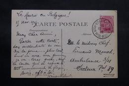 FRANCE / BELGIQUE - Affranchissement De Sainte Adresse ( Gouvernement En Exil ) Sur CP En 1915 Pour SP 89 - L 55168 - Sonstige Briefe U. Dokumente