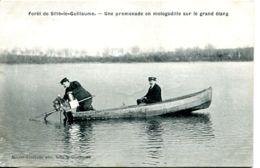 N°4936 T -cpa Sillé Le Guillaume -une Promenade En Motogodille Sur Le Grand étang- - Sille Le Guillaume