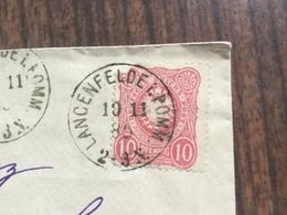 FL2810 Deutsches Reich 1885 Brief Von Langenfelde Pommern Nach Berlin - Germany