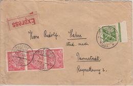 Tschechoslowakei - Bor U České Lípy Haida Expressbrief N. Darmstadt 1922 - Czechoslovakia