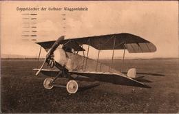 ! Alte Ansichtskarte, Doppeldecker Der Gothaer Waggonfabrik, 1917, Stempel Posen - 1914-1918: 1st War