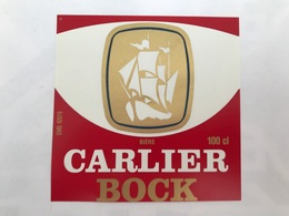 Ancienne Étiquette F2 BIÈRE CARLIER BOCK BRASSERIE JEANNE D'ARC NORD RONCHIN LILLE - Bière
