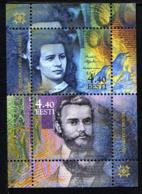 ESTONIE EESTI 2002, Portrait D'homme Et De Femme Sur Billets De Banque, 1 Bloc, Neuf / Mint. R311 - Estonia