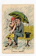 Germaine BOURET . L'amour Mouille . Humour Grivois - Satira
