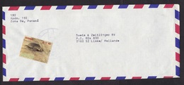 Panama: Airmail Cover To Netherlands, 1 Stamp, Turtle, Endangered Animal (roughly Opened At Back) - Panama