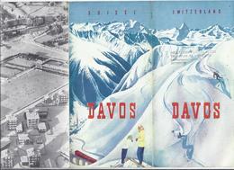 DEPLIANT TOURISTIQUE SUISSE DAVOS PARSENN ECOLE SUISSE DE SKI PLAN BARBARA ANN SCOTT LE CLUB DE HOCKEY - 6 VOLETS - Tourism Brochures