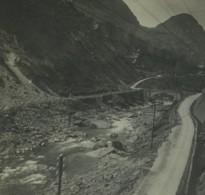Suisse Entre Lavorgo & Giornico Ancienne Photo Stereo Possemiers 1920 - Fotos Estereoscópicas