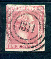 Preussen 1858, Michel-Nr. 10 O, Stempel 1371 - Stettin In Pommern - Preussen