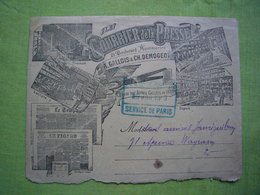 Enveloppe Pub Illustrée Le Courrier De La Presse 1913 Paris - Reclame
